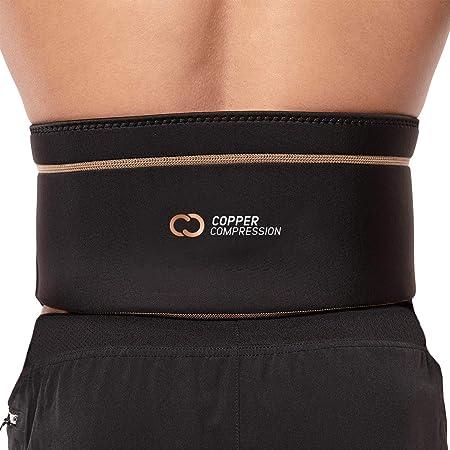New Copper Fit Back Compression Belt Adjustable Lower Lumbar Brace Support UK