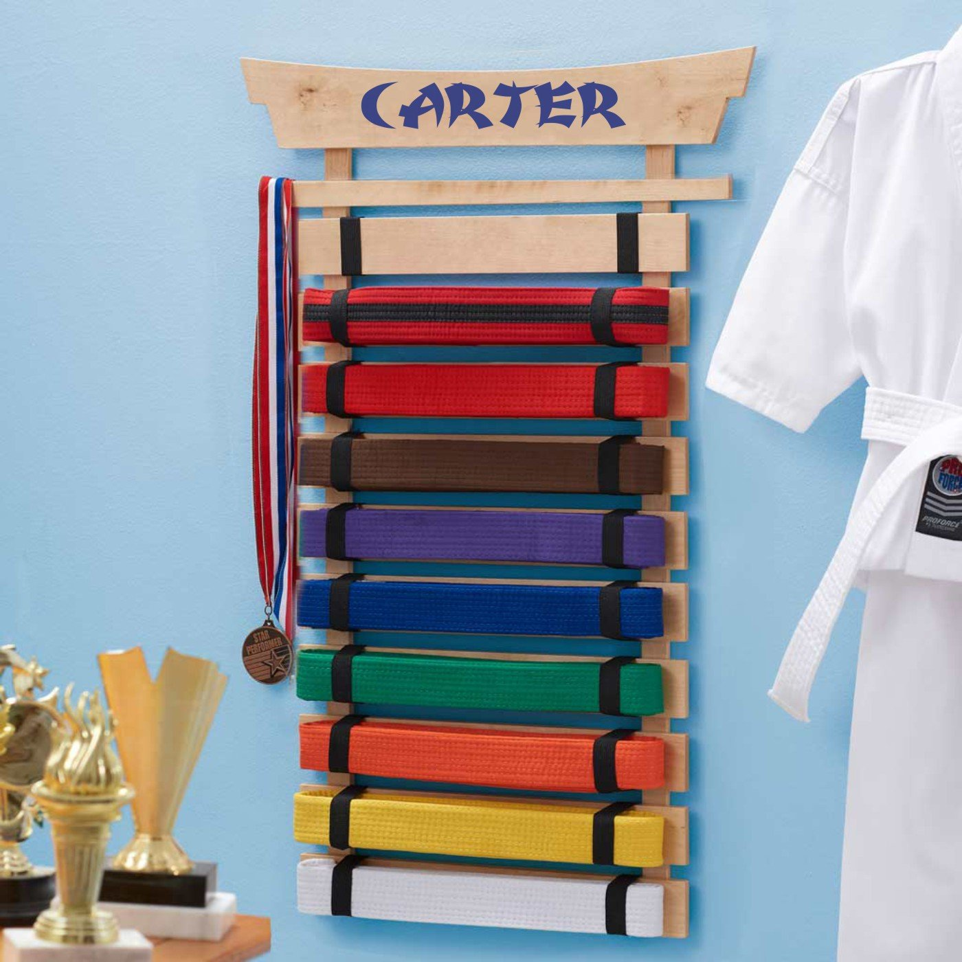 DIBSIES Personalization Station Personalized Karate Belt Display (10 Belts) by DIBSIES Personalization Station