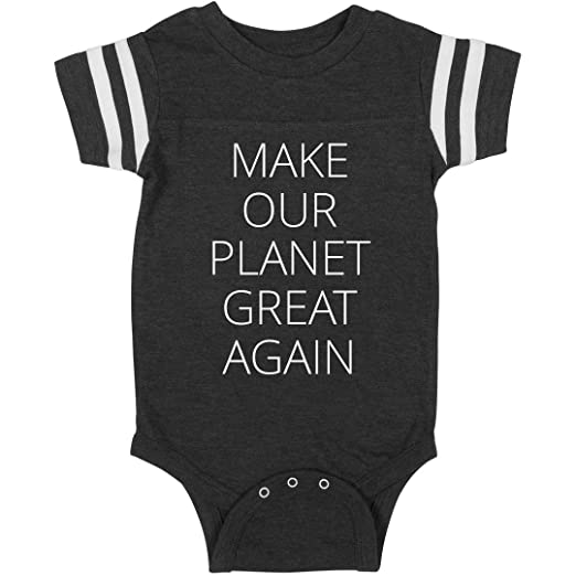 b00d2eebb Image Unavailable. Image not available for. Color: Make Our Planet Great  Again One-Piece: Infant Rabbit Skins Football Bodysuit