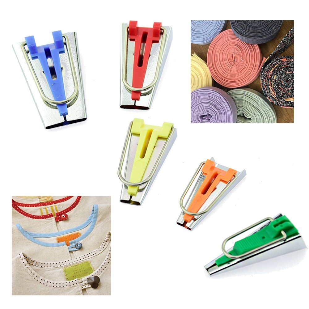 Set of 5 Vpang Fabric Bias Tape Maker Tool 6-25 mm Sewing Quilting Bias Binding Maker Tool Set
