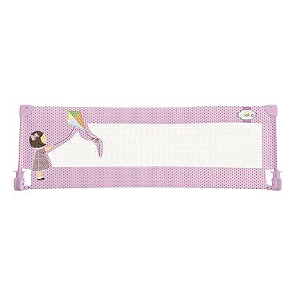 Asalvo 11527 - Barrera de cama 150 cm para bebés, diseño cometa, color rosa