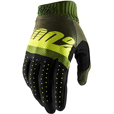 100% 2020 Ridefit Gloves (Small) (Army Green/FLO Lime/Fatigue): Automotive