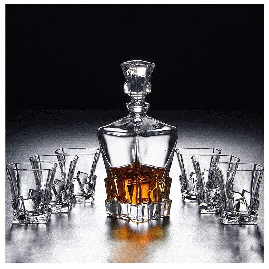 ZCXBHD Set de 7 Piezas Whisky Licorera y Set Gafas, Whisky ...