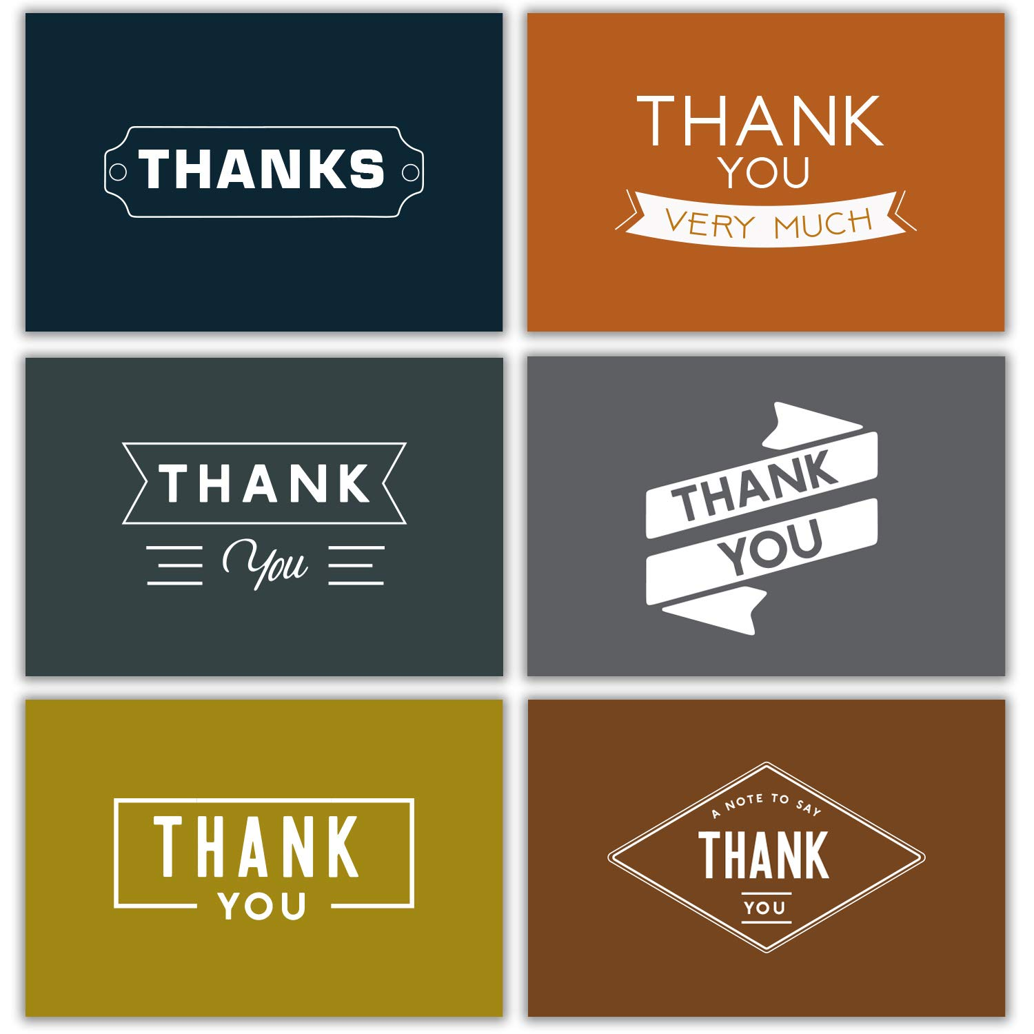 Men Thank You Notes Bulk Retro 48 Thank You Cards Bulk w/Stickers & White Envelopes - Vintage & Retro - 4x6 Blank Note Cards - Perfect for Weddings, Bridal Showers, Graduation, and Baby Showers