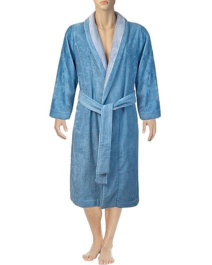 881b714eb5 Armani International Bi-face Bathrobe Slippers Small Blue Hydrangea-Silver  Grey