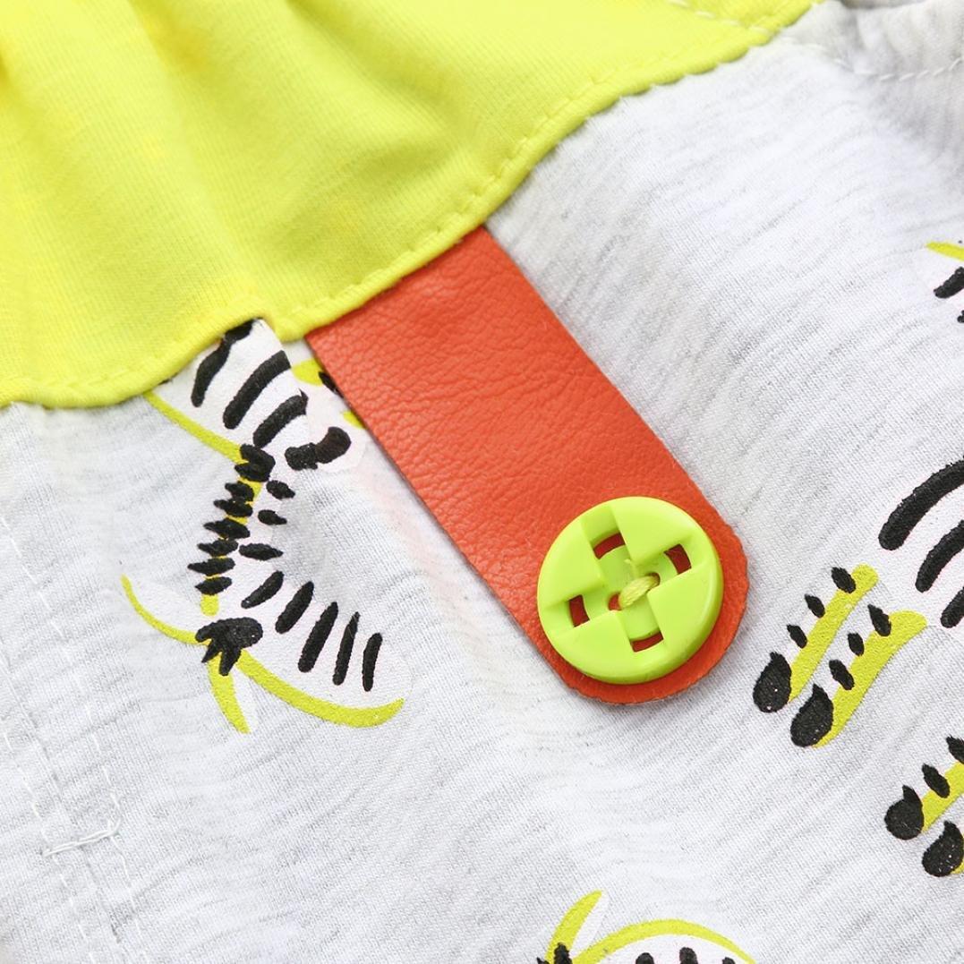 Ankola Children Summer Cartoon Zebra Print Shorts Toddler Kid Baby Boys Summer Casual Cotton Blend Shorts Pants with Pockets (Yellow, 6M) by Ankola (Image #4)
