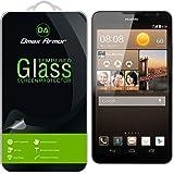 Huawei Ascend Mate 2 4G Glass Screen Protector, Dmax Armor [Tempered Glass] Ballistics Glass, 99% Touch-screen Accurate, Anti-Scratch, Anti-Fingerprint, [0.3mm] Ultra-clear - Retail Packaging