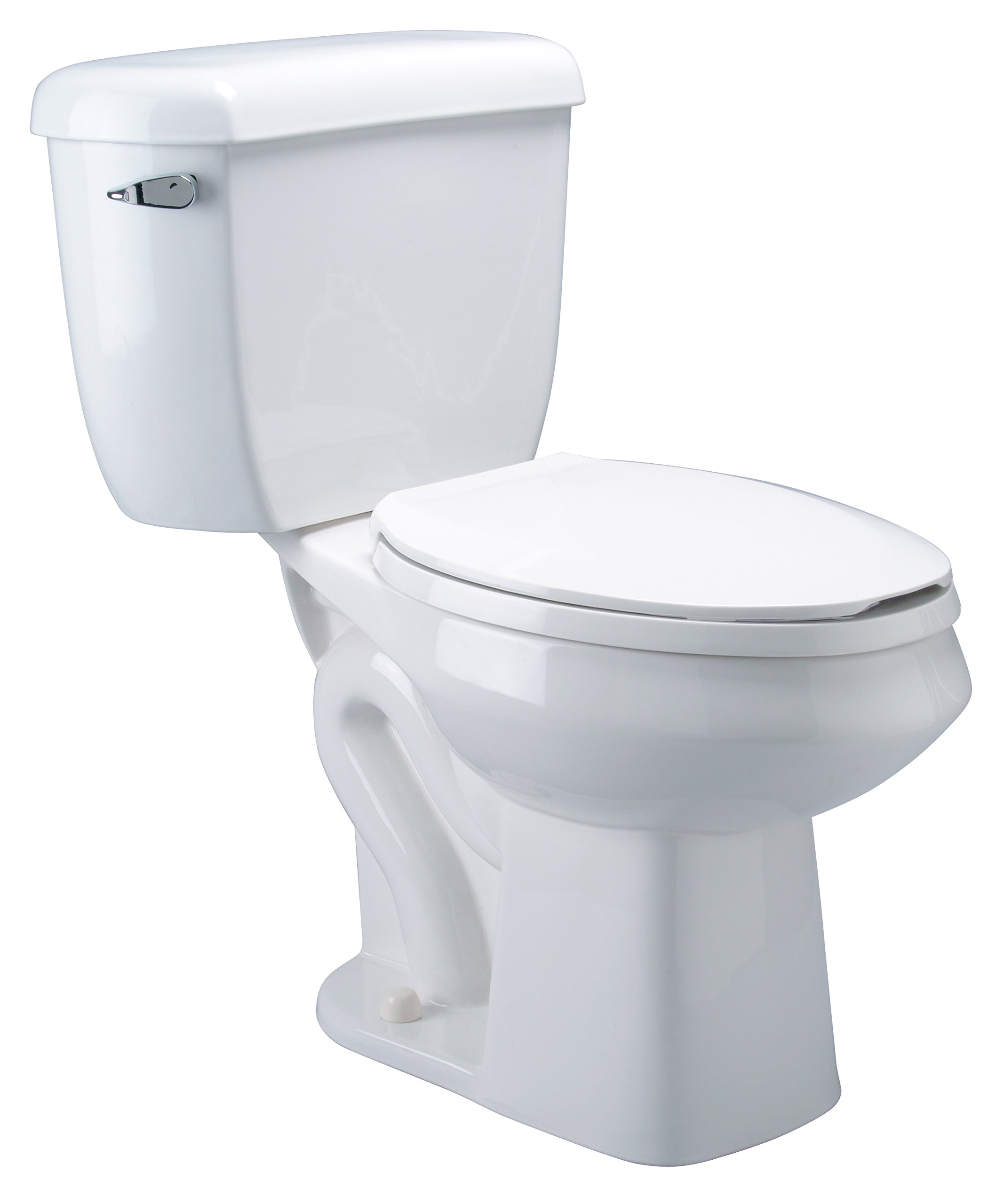 Zurn Z5572 Dual Flush, Elongated Pressure Assist, 1.6/1.0 gpf, Two-Piece Toilet