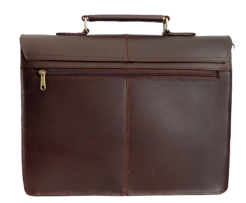 Leather Laptop Messenger Bags For Men Women 13 Inch Mens Briefcase Cross Body Bag