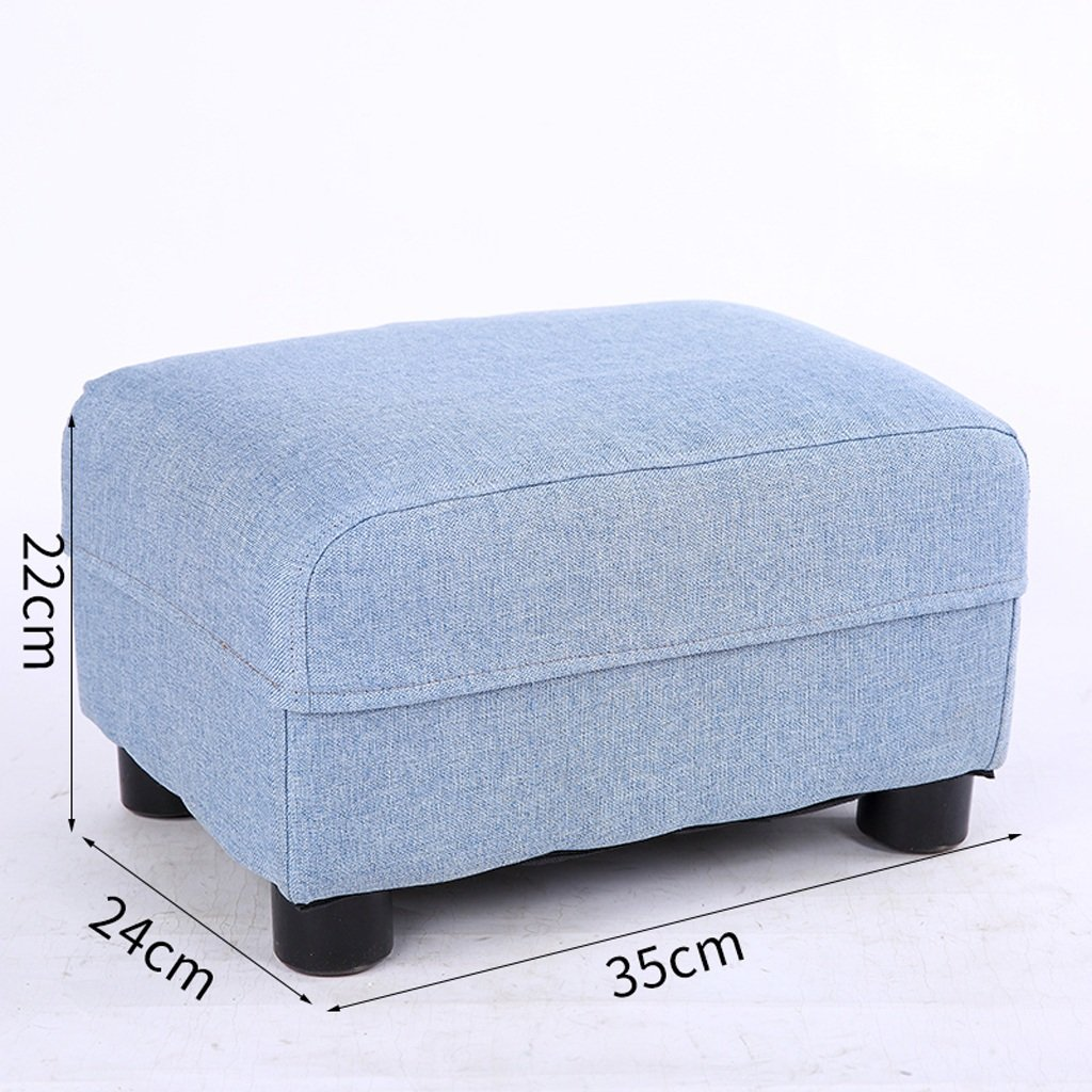 bluee Stools Replace shoes Bench Solid Wood Home Living Room Sofa Footstool Bedroom Bedside Stools (Rectangle) (color   Purple)