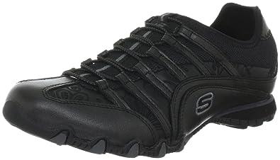 Skechers Damen Low Sneaker Schwarz Schuhe, Größe:38