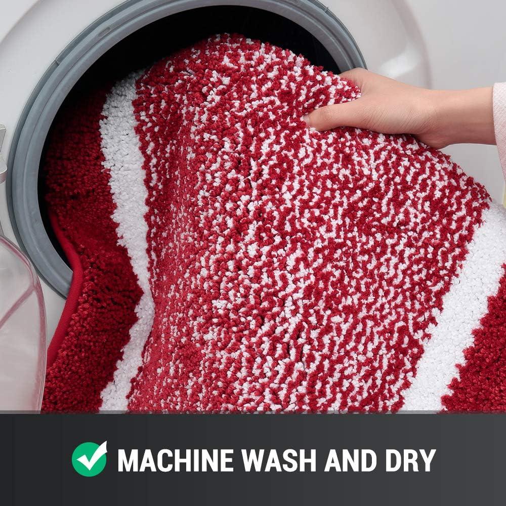 Machine Wash//Dry Bathroom Rug Mat Ultra Soft and Water Absorbent Bath Rug and Bath Room for Tub Shower Bath Carpet