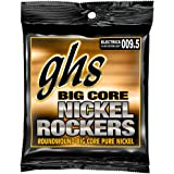 GHS Strings BCCL Big Core Nickel Rockers, Pure Nickel Electric Guitar Strings, Custom Light (.009 1/2-.048)
