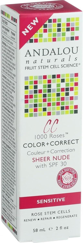Andalou Naturals Color Plus Correct - Sheer SPF 30 - Nude - 2 oz