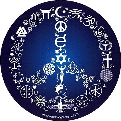 Amazon Coexist Peace Sign Bumper Sticker Decal 5 Circular