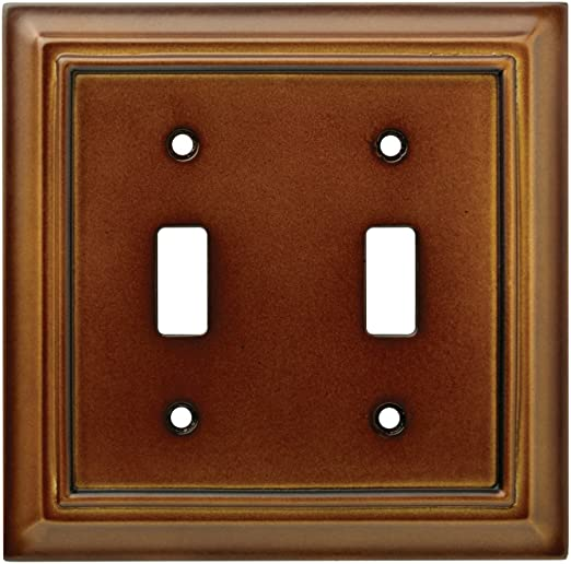 171917 Franklin Brass White Architect Double Switch Wall Cover Plate