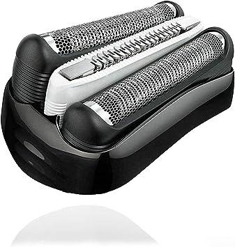 Poweka - Cuchilla de afeitar de repuesto 32B, compatible con Braun Series 3 3090cc 3050cc 3040s 3020 340 320: Amazon.es: Salud y cuidado personal