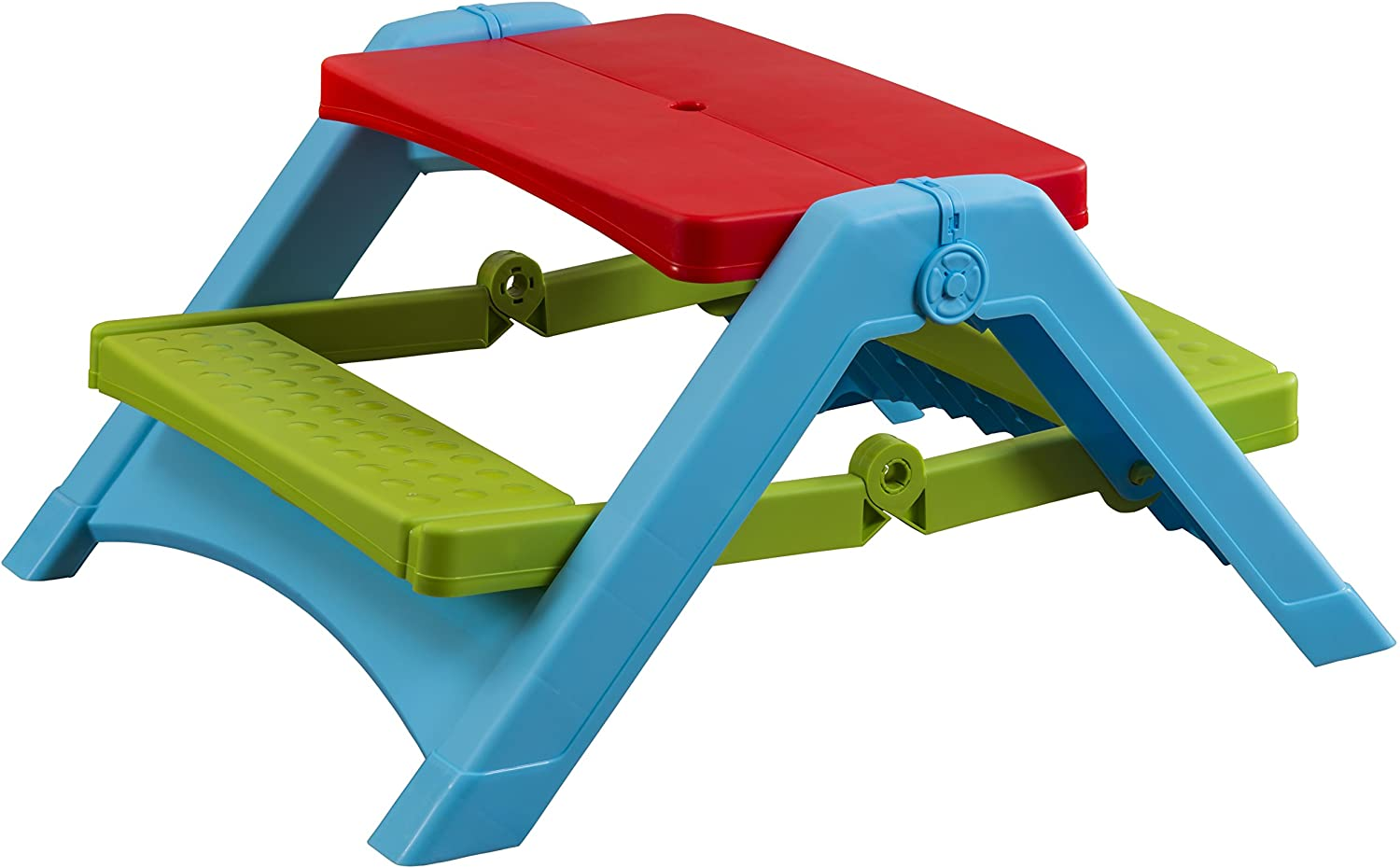 - Amazon.com: Pal Play Foldable Kids Picnic Table - Seats Four Kids