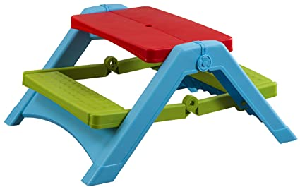 Amazoncom Pal Play Foldable Picnic Table Red Green - Playground picnic table