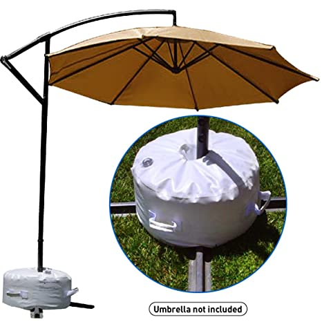 Offset Umbrella Base Stand Weight   Works Also For Market Umbrella (WHITE)