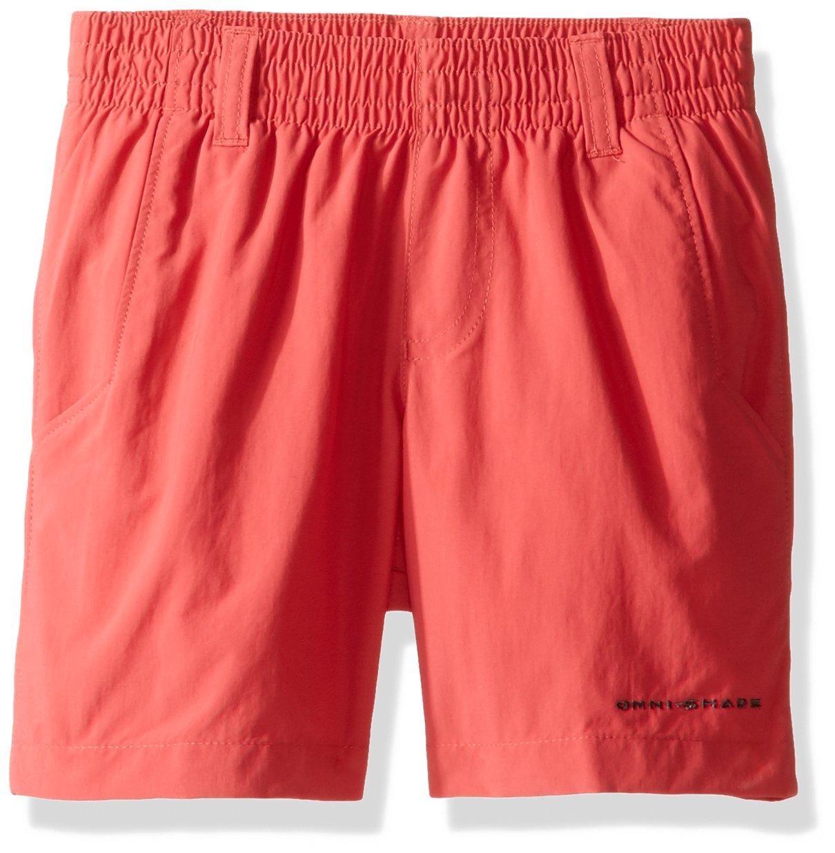 Columbia Boys' PFG Backcast Short , Sunset Red, Large
