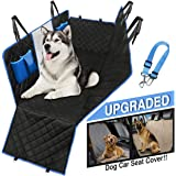 Dog Car Seat Cover Waterproof Hammock protects all back-seat area. Mesh Viewing Window, 4 Storage Pockets, Zipper Side…