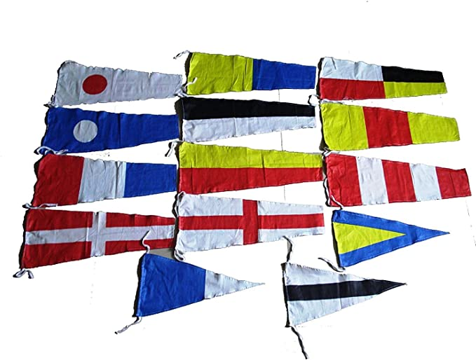 International Maritime Signal Flag Nautical//Boat//Beach Party 5179 12 Feet Long 14 Flags Bunting