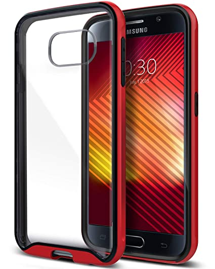 half off aa2f0 77d2d Caseology Waterfall for Galaxy S6 Case (2015) - Clear Back Bumper - Red