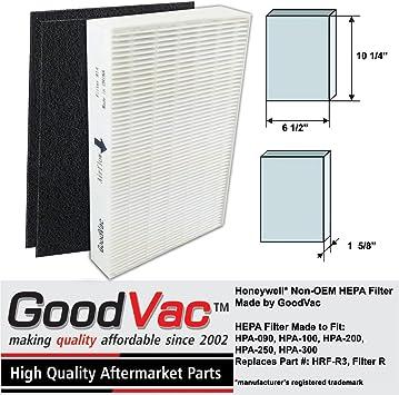 GoodVac Honeywell - Filtro purificador de Aire HEPAPA no OEM con 2 ...