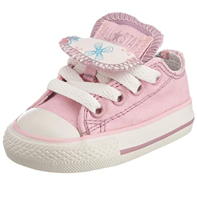 29bbe792a837 Converse Infant Chuck Taylor All Star Flower Print Double Tongue OX Lace-Up  Pink Lady Flowers 714132 2 Child UK  Amazon.co.uk  Shoes   Bags