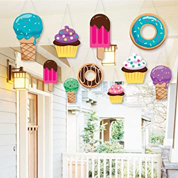 Amazon Com Hanging Sweet Shoppe Outdoor Hanging Decor Candy And