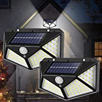 Led Solar Lights Outdoor , Waterproof Wireless Security Flood Night Light for Garden Yard , Containing 120° Motion…