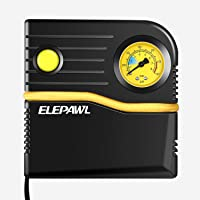 Elepawl Automotive Portable Tire Inflator with Indicating Tire Pressure Gauge
