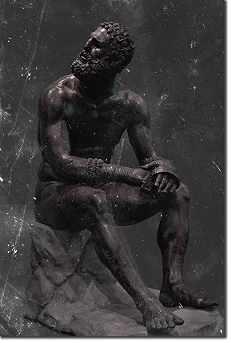 The Pop Culture King Boxer at Rest Statue Print - Gritty ...