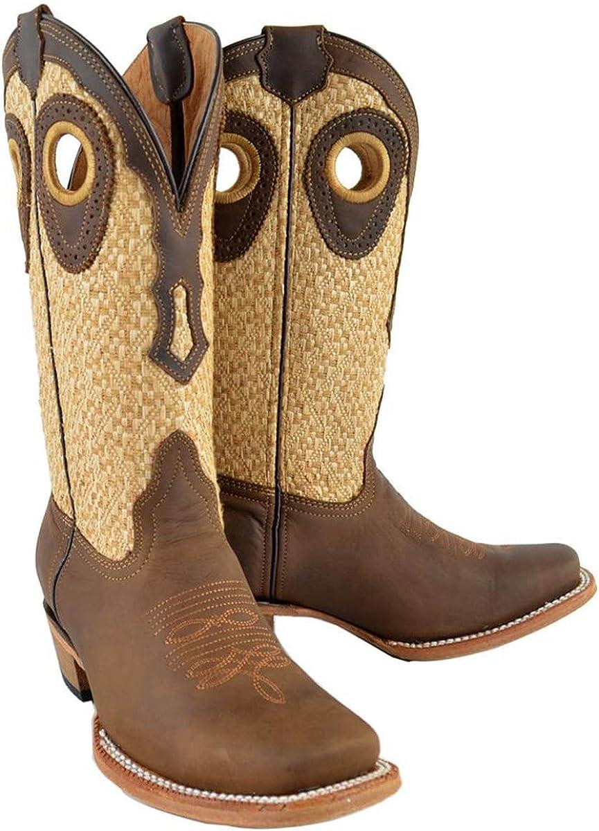 Womens Genuine Cow Hide Leather Cowboy