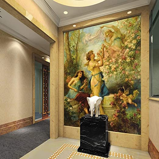 Murales Decorativos Pared 3D Papel Pintado,Figura Europea Óleo ...