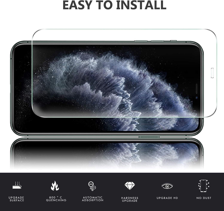 Anti-Rupture Luibor pour iPhone 11 Pro Verre Tremp/é 3 pi/èces ,Outil Dinstallation,Verre Protection Ecran 9H Duret/é,Aucune Bulle ,pour iPhone 11 Pro Cam/éra Arri/ère Protecteur 2 pi/èces