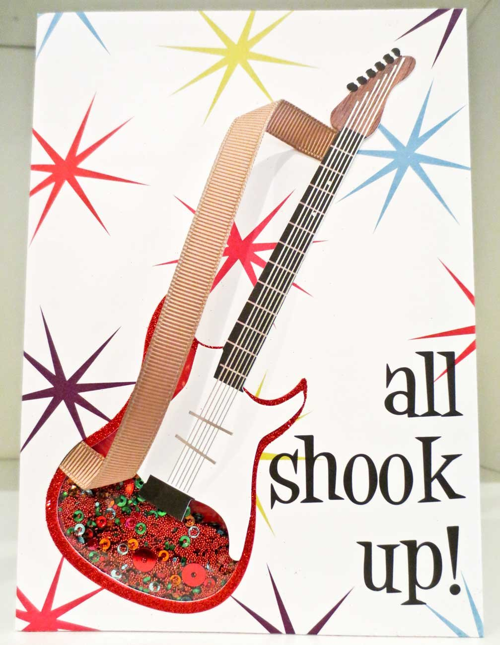 Amazon Meri All Shook Up Guitar Happy Birthday Card With