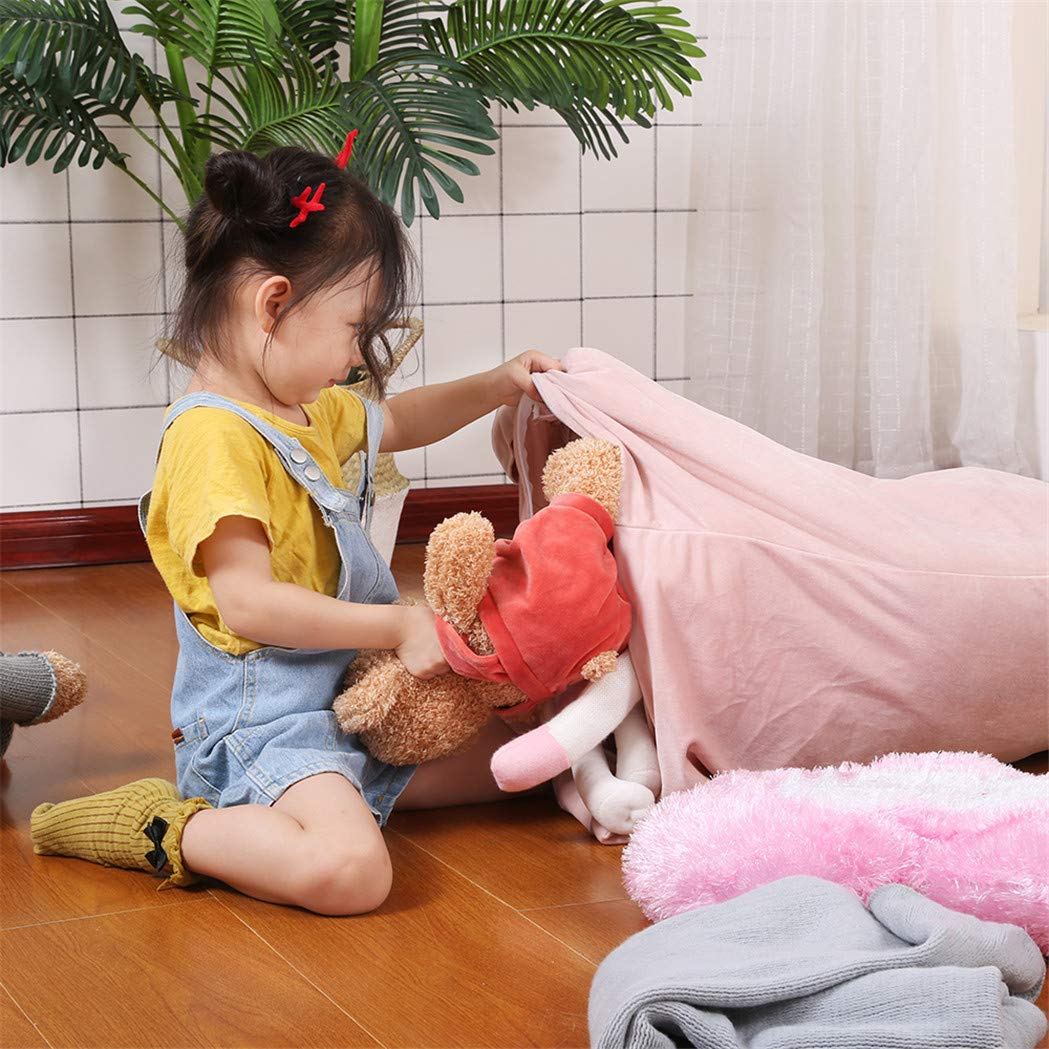 Stuffed Animal Bean Bag Chair for Kids and Adults. Luxury Velvet Stuffed Seat - Cover ONLY(Sweet Pink 200L/52 Gal) by Jorbest (Image #5)