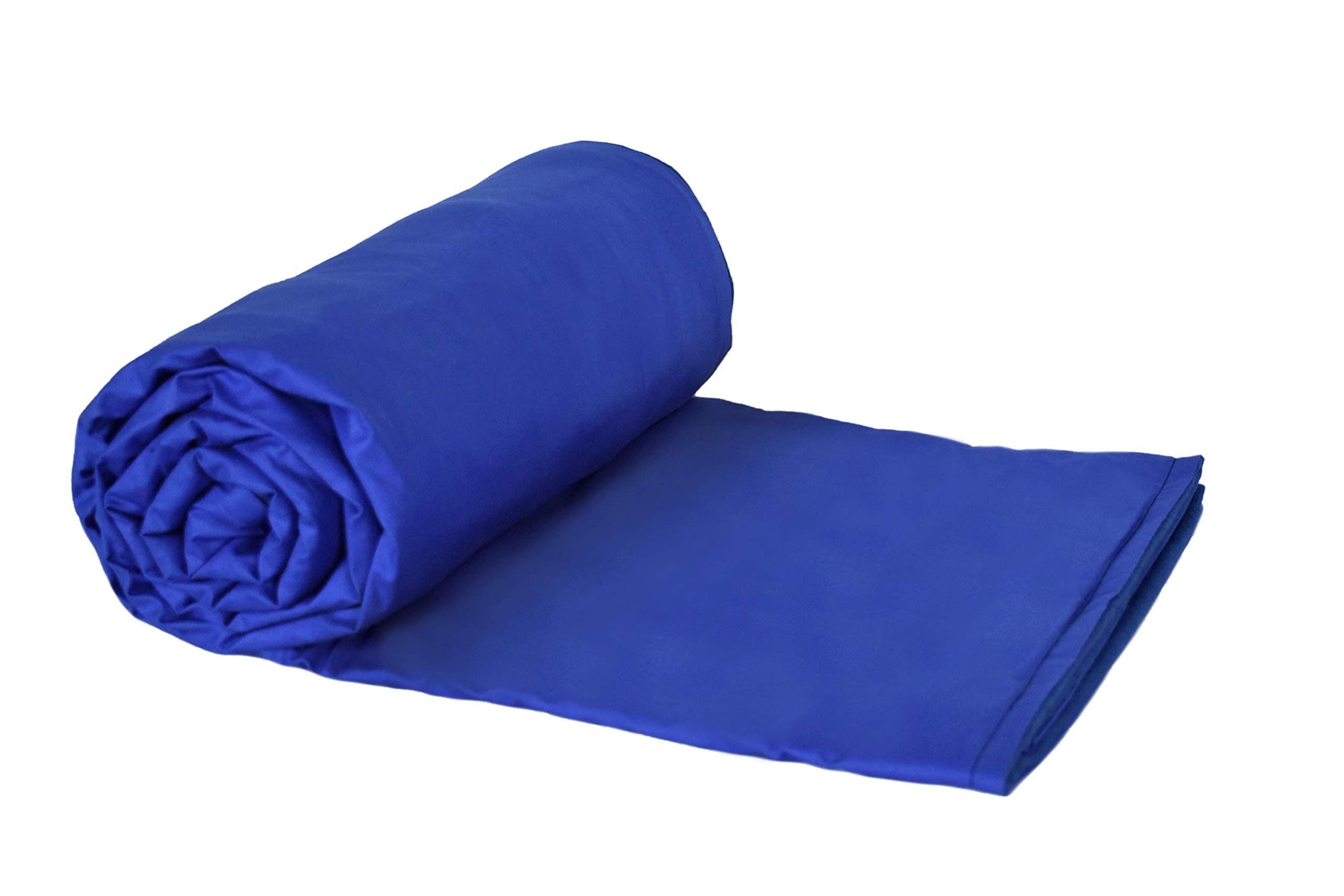 Weighted Blankets Plus LLC - Made in USA - Child Small Weighted Blanket - Blue - Cotton/Flannel (48'' L x 30'' W) 4lb Pressure.
