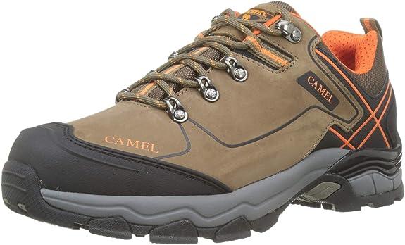 CAMEL Zapatos de Trekking para Hombres Low-Top Zapatillas de Senderismo Antideslizantes Zapatos Seguros para Escalada Actividades al Aire Libre