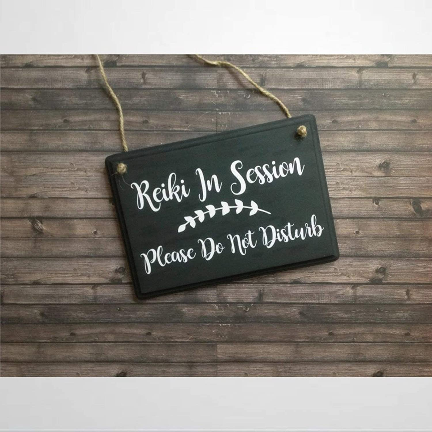 BYRON HOYLE Reiki in Session Wood Sign,Wooden Wall Hanging Art,Inspirational Farmhouse Wall Plaque,Rustic Home Decor for Living Room,Nursery,Bedroom,Porch,Gallery Wall