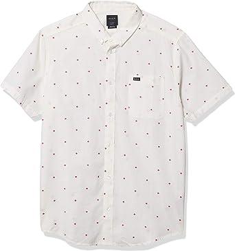 RVCA Thatll Do Dobby Camisa de Manga Corta con botón Frontal Tejido para Hombre: Amazon.es: Ropa y accesorios