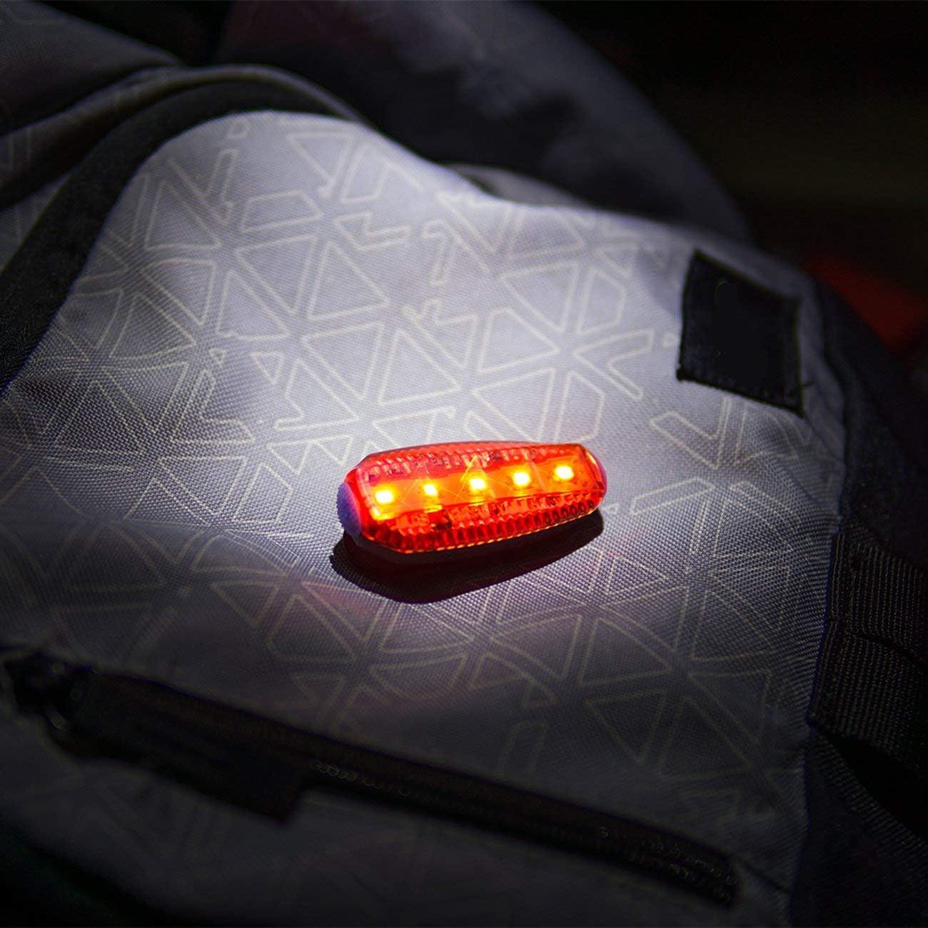 Rouge JIUY USB Batterie Rechargeable Route de Montagne v/élo Bicycle Pince s/écurit/é /étanche Avertissement arri/ère Feu arri/ère Lumi/ère de