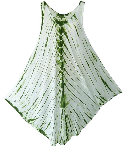 pikulla Half Moon sin mangas de mujer Tie Dye coco-l Vestido Multicolor XL