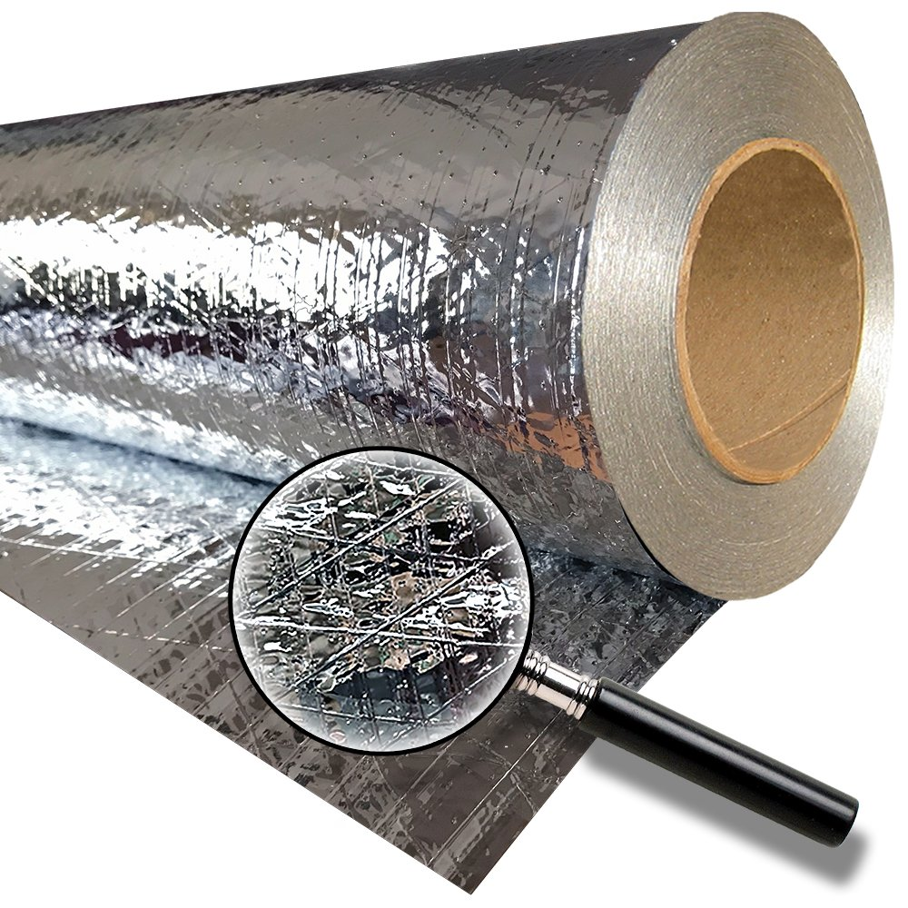 RadiantGUARD CLASSIC Entry Level Radiant Barrier 48-inch 1000 square feet roll (C-1000-B) – Reflective Aluminum Breathable Attic Roof Foil Insulation – BLOCKs 95% of Heat / 99% RF Signals SCIF RFID