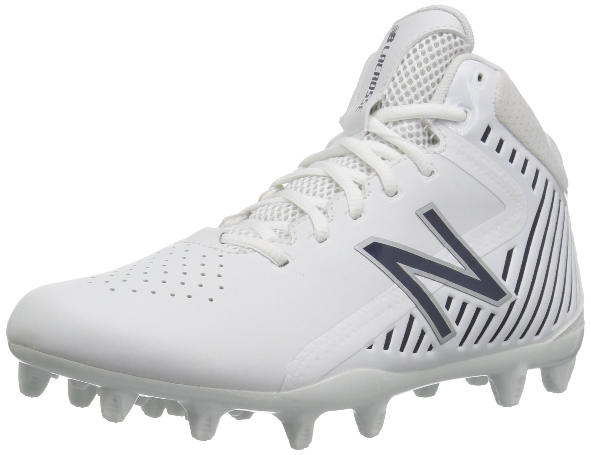 New Balance Men's Rush v1 Lacrosse Speed Lacrosse Shoe, White/Blue, 13 2E US by New Balance