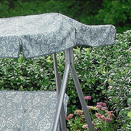 Palermo Green Floral Replacement Canopy For 3 Person Swing by K Mart