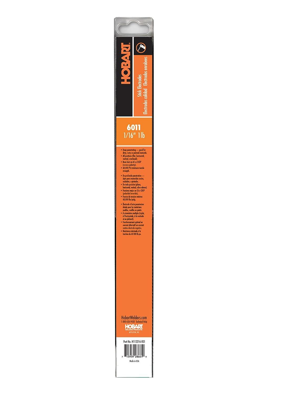 Hobart H112232-R01 1-Pound Plastic 6011 Stick Electrode 3//32-Inch