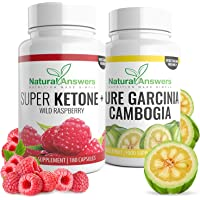 Raspberry Ketone & Garcinia Cambogia Clean Capsules | Weight Loss Supplement Combo Pack | 3 Month Supply | 100% Suitable for Vegetarians | UK Manufactured | Trusted Brand Natural Answers